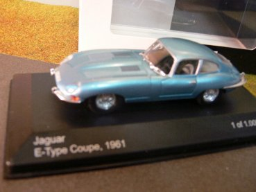 1/43 White Box Jaguar E-Type Coupe 1961 hellblaumetallic 196466