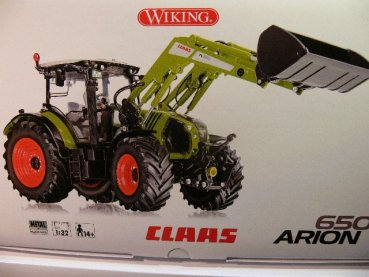 1/32 Wiking Claas Arion 650 mit Frontlader 0773 25