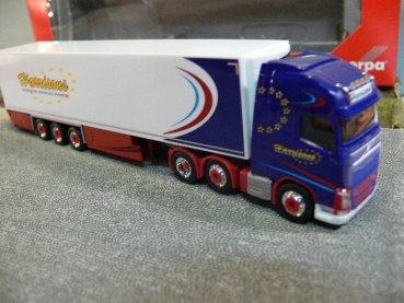 """Herpa 309455 Scania 143 Kühlkoffer-Sattelzug /""""Sties/"""" N"""
