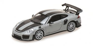 1/87 Minichamps Porsche 911 GT2 RS 2018 grau w / Carbon Stripes 870068122
