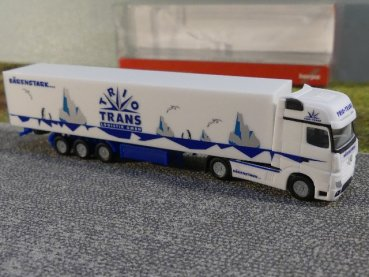 1/160 Herpa Mercedes Benz Actros Gigaspace Koffer SZ Trio-Trans 066709