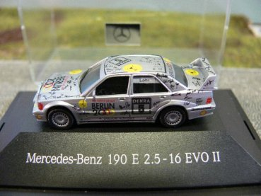 1/87 Herpa MB 190 E Evo II AMG DTM '92 Lohr #5 165389 ohne Verpackung