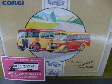 1/50 Corgi I AEC Regal I Bedford OB Coach Yelloway Bus Set 97063