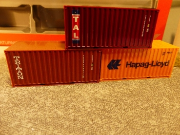1/87 Herpa Container Set 3x20ft. Hapag Lloyd TAL Triton 076432-003