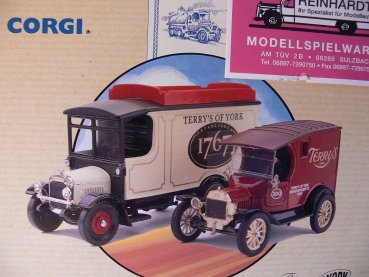 1/50 Corgi Thornycroft Van u.Model T Van Therry's of York 97753