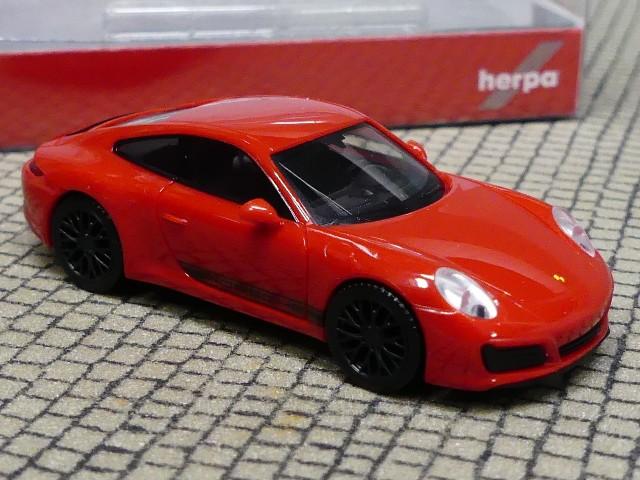 Herpa Porsche 911 GT3 Carlo Colucci  1:87 Box RAR selten rot