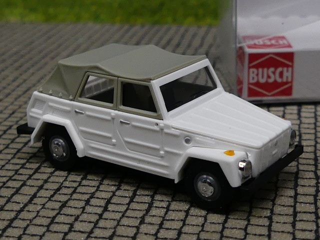 VW Busch 52700 181 Kurierwagen Auto Modell 1:87 H0 Wei/ß