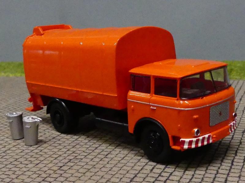 Brekina Liaz 706 Müllwagen Müllabfuhr inkl Mülltonnen DDR zur Auswahl 1:87 H0