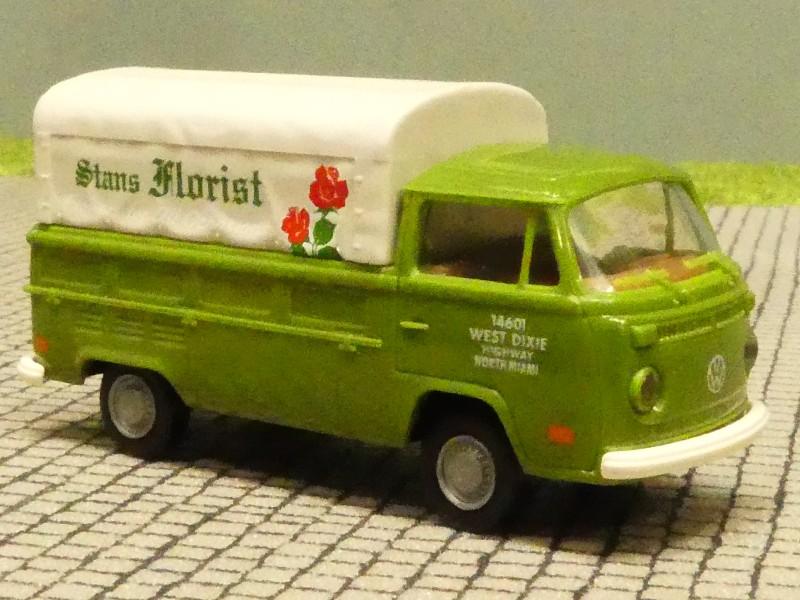 1//87 Brekina VW T2 Florist USA Version Pritsche