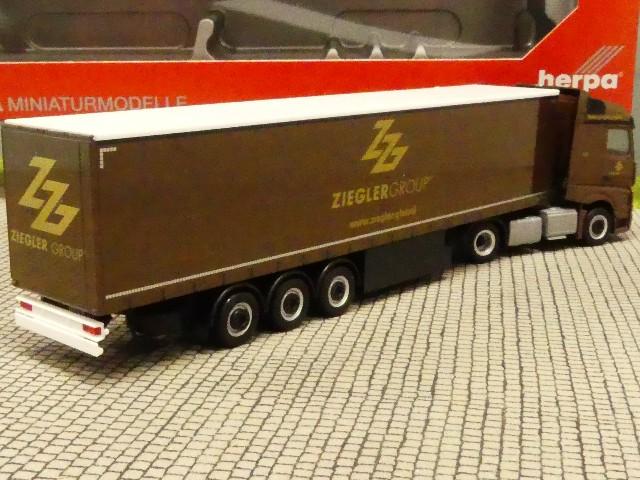 1//87 Herpa MB Actros Streamspace Gardinenplanen SZ Ziegler Group 310260