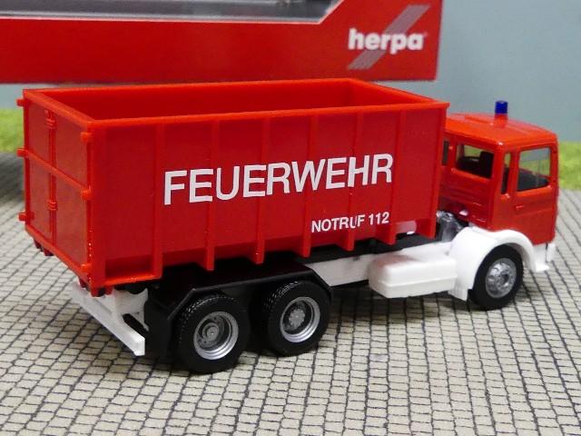 1//87 Herpa MAN F8 Abrollcontainer-LKW Feuerwehr 310963