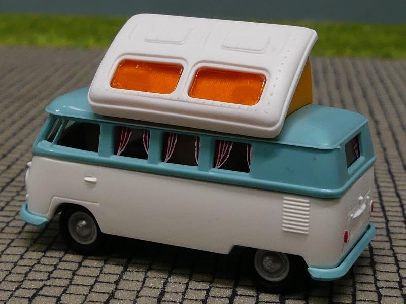 1//87 Brekina VW t1 B Camper con dormobildach hellelfenbein//moosgrün 31603