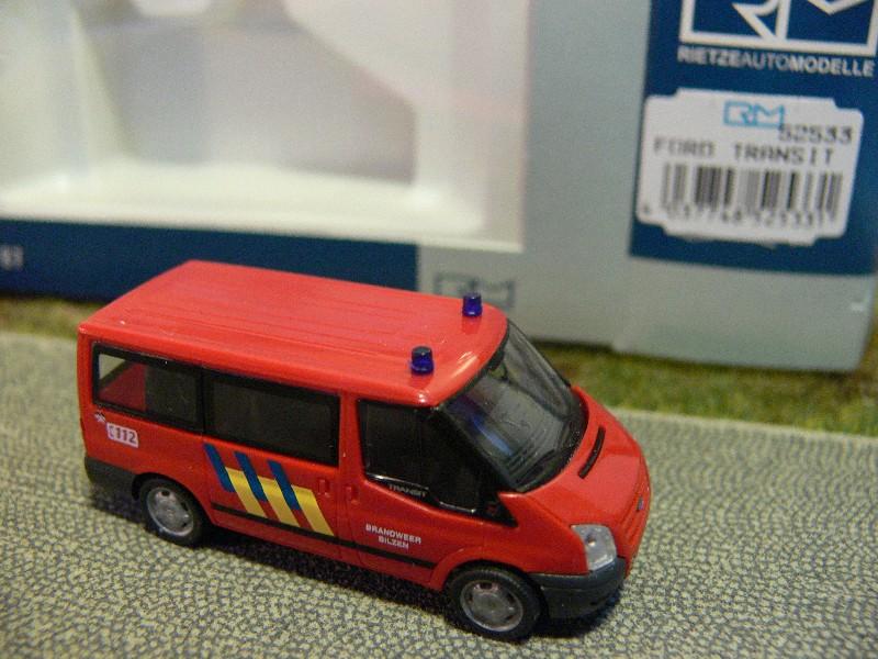 1//87 Rietze Ford Transit Brandweer Bilzen B 52533