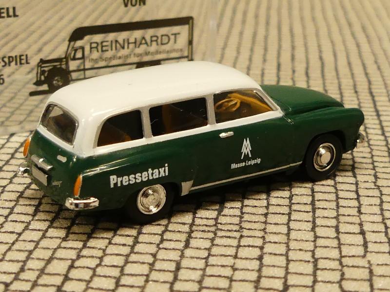 Brekina 27173 Wartburg 311 station Wagon rosso rubino//Marrone Avorio nuovo 1//87