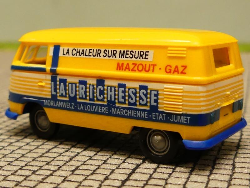 1//87 Brekina # 0578 VW T1 b Kasten Laurichesse Mazout Gaz B Sondermodell ...