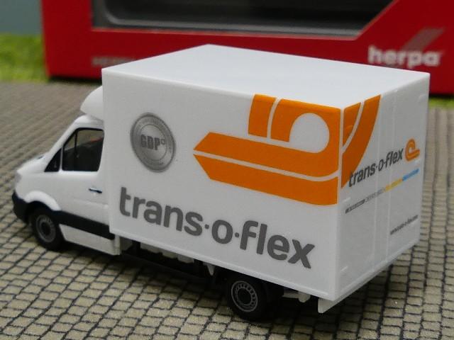 1//87 Herpa MB Sprinter Koffer trans o flex 094542