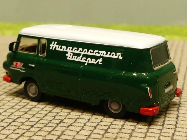 1//87 Brekina Barkas B 1000 Hungarocamion Budapest Kasten 30118