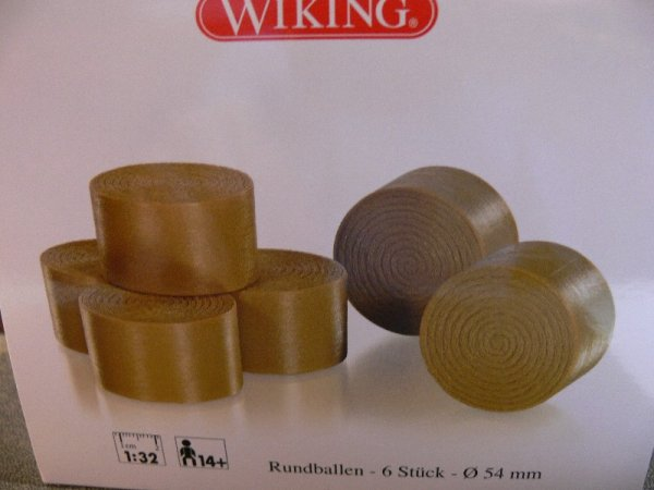 1/32 Wiking Rundballen 6 St. Dm 54 mm  0773 93