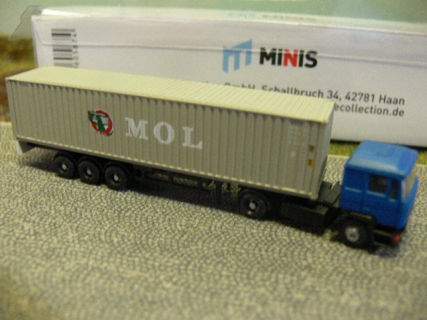 1/160 Minis N-Spur MAN F90 MOL Container-Sattelzug LC4050
