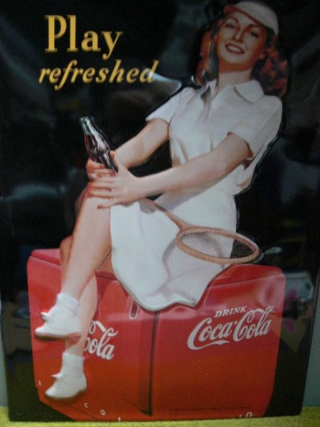 Blechschild Coca Cola Play refreshed 30 x 40 cm