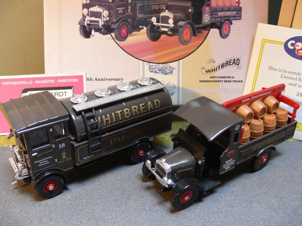 1/50 Corgi AEC Cabover u.Thornycroft Beer Truck Whitbread 97755