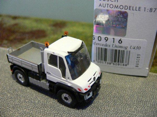 Busch MB Unimog U430 Einsatzfahrz Weiß 50916