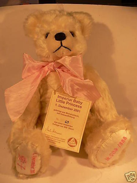 HC 25 Hermann Coburg Teddy Little Princess 1.Dez. 2001 35 cm aus Mohair