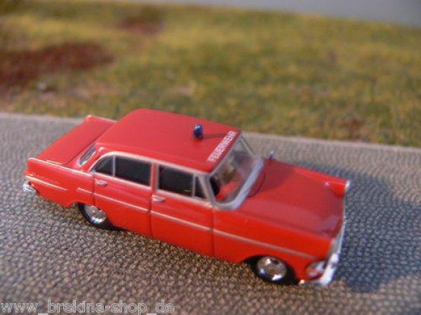 1//87 Brekina Opel Rekord P2 Limousine Feuerwehr 20147
