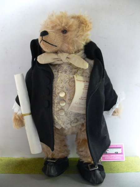 HC162 Hermann Coburg Teddy George Washington ca.42 cm Limitiert