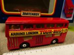 Matchbox Doppeldecker Around London Tour-Bus rot